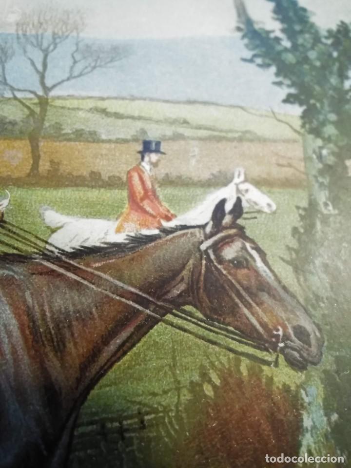 Arte: Dos grabados, cacería hípica, firmados George Derville Rowlandson - Foto 12 - 254993025