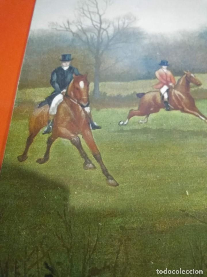 Arte: Dos grabados, cacería hípica, firmados George Derville Rowlandson - Foto 14 - 254993025