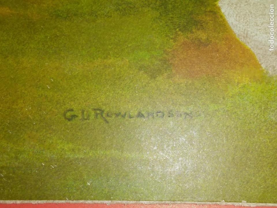 Arte: Dos grabados, cacería hípica, firmados George Derville Rowlandson - Foto 20 - 254993025