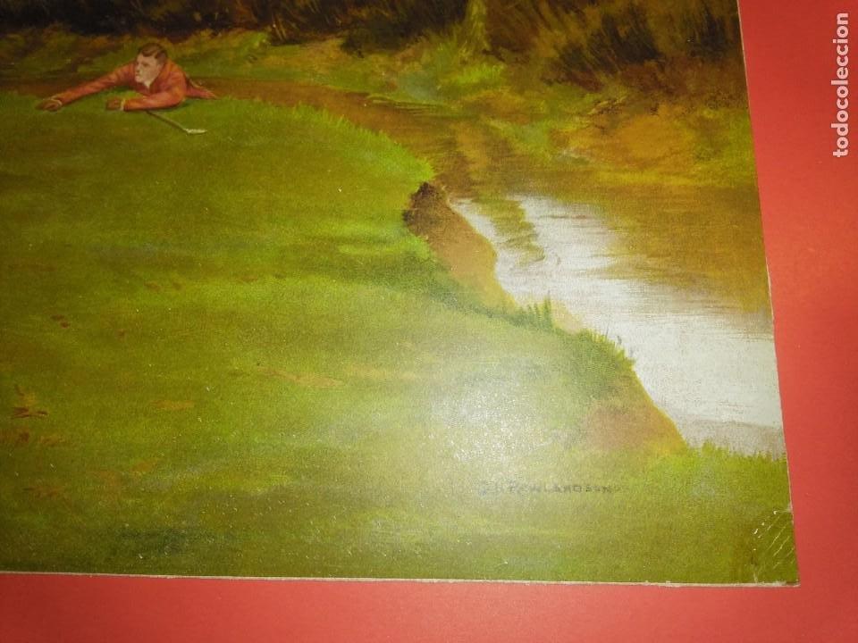 Arte: Dos grabados, cacería hípica, firmados George Derville Rowlandson - Foto 19 - 254993025