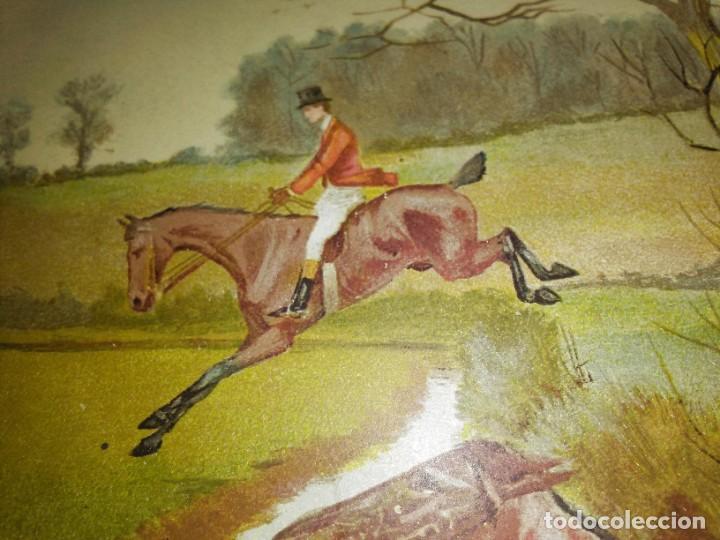 Arte: Dos grabados, cacería hípica, firmados George Derville Rowlandson - Foto 29 - 254993025
