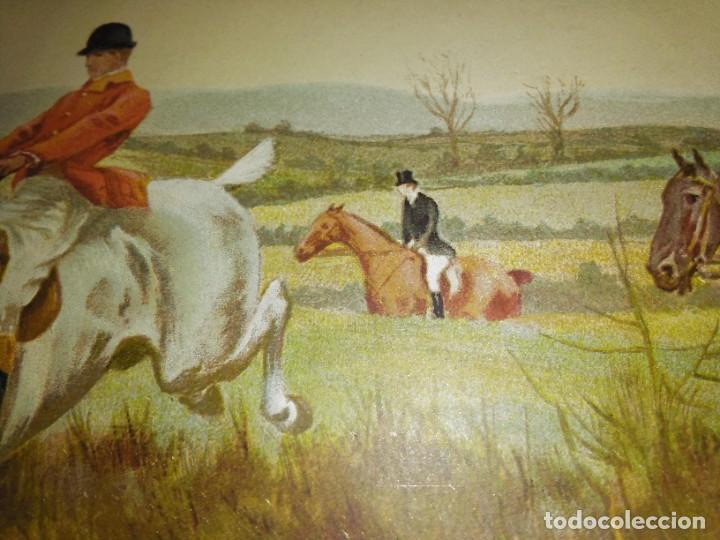 Arte: Dos grabados, cacería hípica, firmados George Derville Rowlandson - Foto 31 - 254993025
