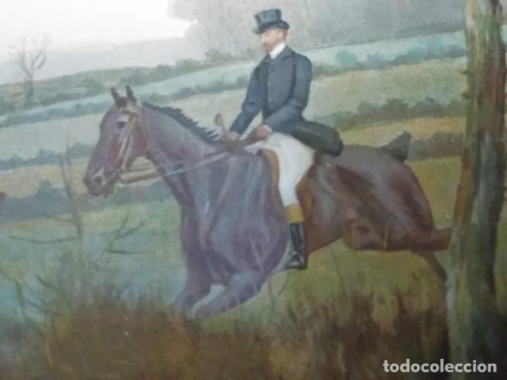 Arte: Dos grabados, cacería hípica, firmados George Derville Rowlandson - Foto 33 - 254993025