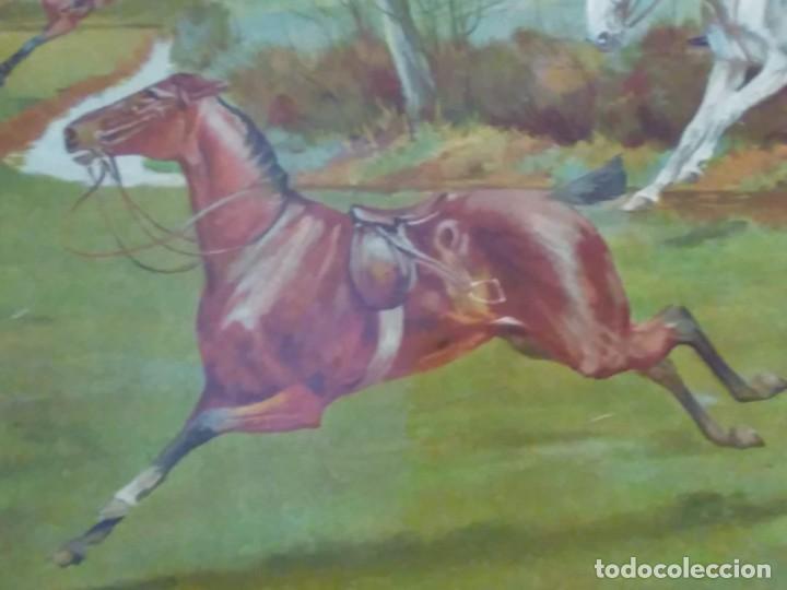 Arte: Dos grabados, cacería hípica, firmados George Derville Rowlandson - Foto 27 - 254993025