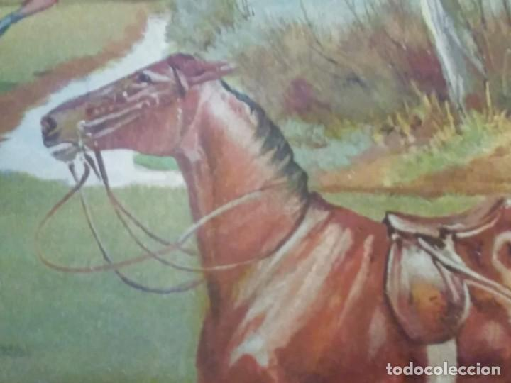 Arte: Dos grabados, cacería hípica, firmados George Derville Rowlandson - Foto 28 - 254993025