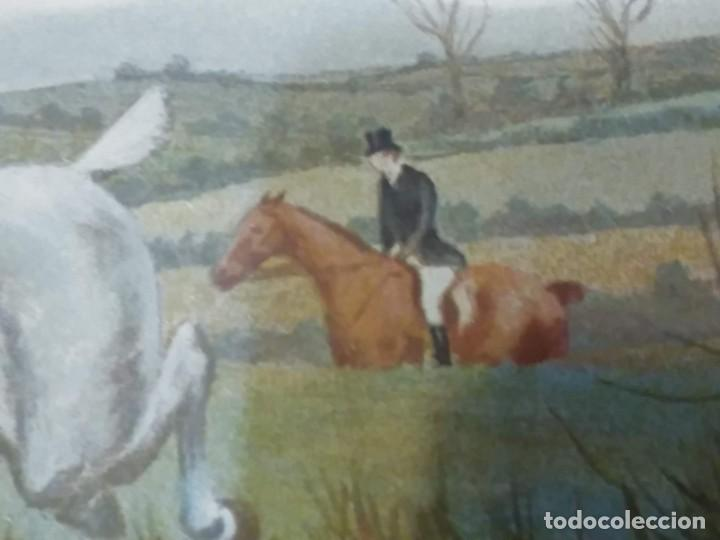 Arte: Dos grabados, cacería hípica, firmados George Derville Rowlandson - Foto 32 - 254993025