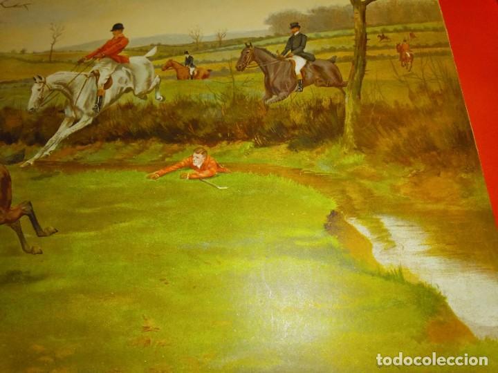 Arte: Dos grabados, cacería hípica, firmados George Derville Rowlandson - Foto 25 - 254993025