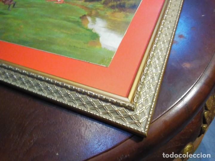 Arte: Dos grabados, cacería hípica, firmados George Derville Rowlandson - Foto 15 - 254993025
