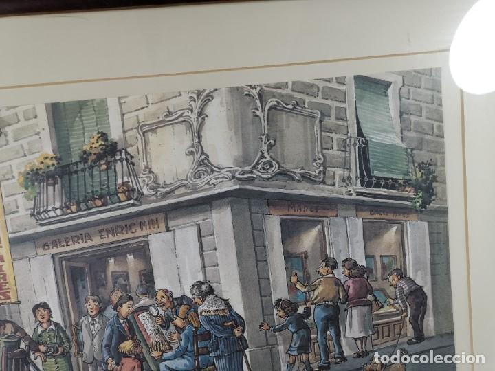 Arte: LAMINA DIBUJO DE 1ª TROBADA PUNTAIRES EN ACTUAL XOCOLATERIA PLAÇA NOVA EL VENDRELL-FIRMADO - Foto 7 - 255960295