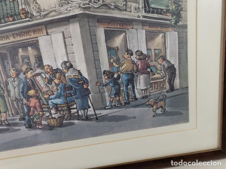 Arte: LAMINA DIBUJO DE 1ª TROBADA PUNTAIRES EN ACTUAL XOCOLATERIA PLAÇA NOVA EL VENDRELL-FIRMADO - Foto 8 - 255960295