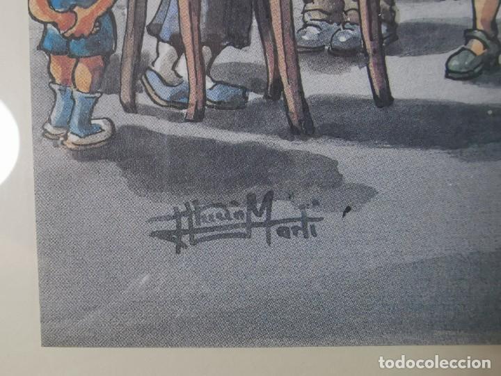 Arte: LAMINA DIBUJO DE 1ª TROBADA PUNTAIRES EN ACTUAL XOCOLATERIA PLAÇA NOVA EL VENDRELL-FIRMADO - Foto 9 - 255960295