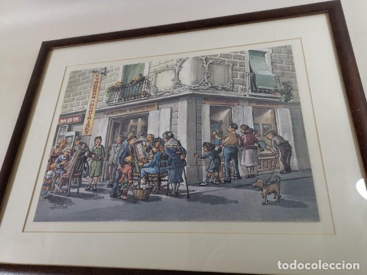 Arte: LAMINA DIBUJO DE 1ª TROBADA PUNTAIRES EN ACTUAL XOCOLATERIA PLAÇA NOVA EL VENDRELL-FIRMADO - Foto 14 - 255960295