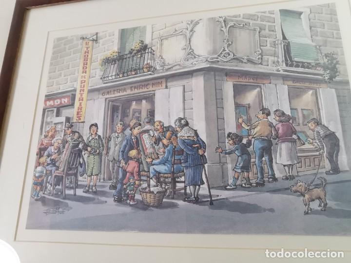 Arte: LAMINA DIBUJO DE 1ª TROBADA PUNTAIRES EN ACTUAL XOCOLATERIA PLAÇA NOVA EL VENDRELL-FIRMADO - Foto 16 - 255960295