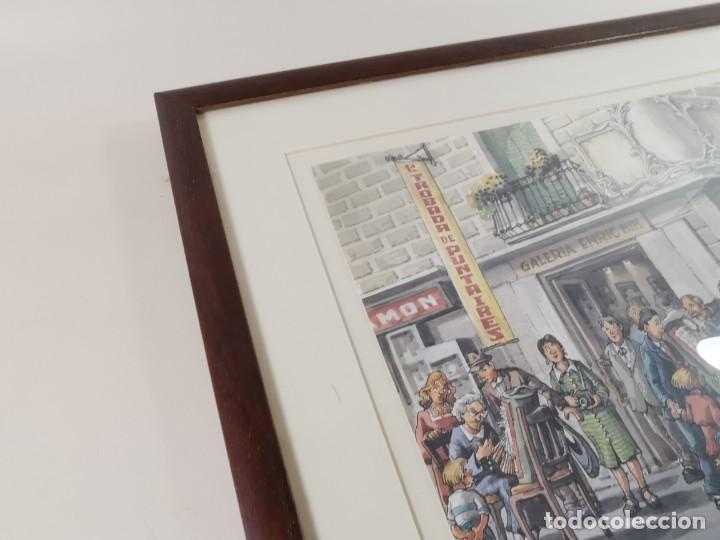 Arte: LAMINA DIBUJO DE 1ª TROBADA PUNTAIRES EN ACTUAL XOCOLATERIA PLAÇA NOVA EL VENDRELL-FIRMADO - Foto 18 - 255960295
