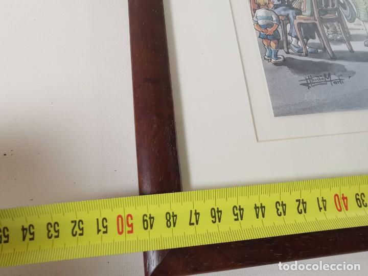 Arte: LAMINA DIBUJO DE 1ª TROBADA PUNTAIRES EN ACTUAL XOCOLATERIA PLAÇA NOVA EL VENDRELL-FIRMADO - Foto 19 - 255960295