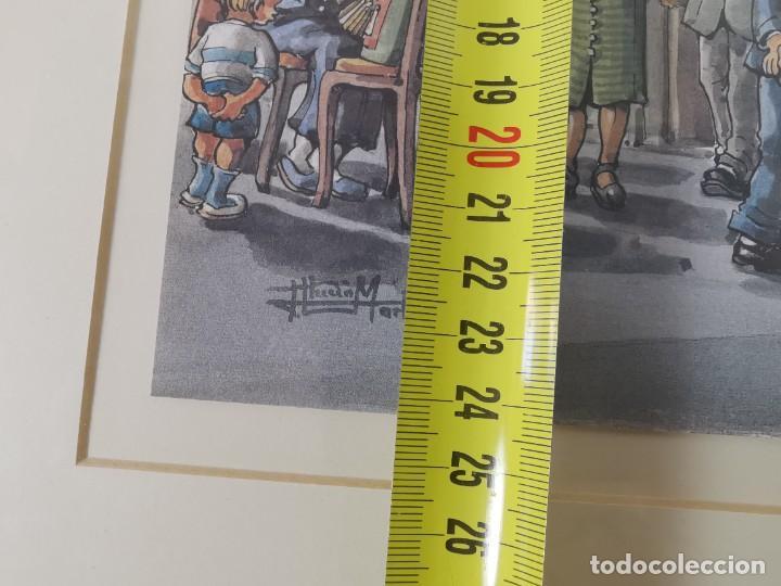 Arte: LAMINA DIBUJO DE 1ª TROBADA PUNTAIRES EN ACTUAL XOCOLATERIA PLAÇA NOVA EL VENDRELL-FIRMADO - Foto 22 - 255960295