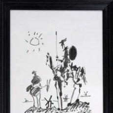 """Art: PABLO RUIZ PICASSO """"DON QUIJOTE Y SANCHO PANZA"""". Lote 257613405"""