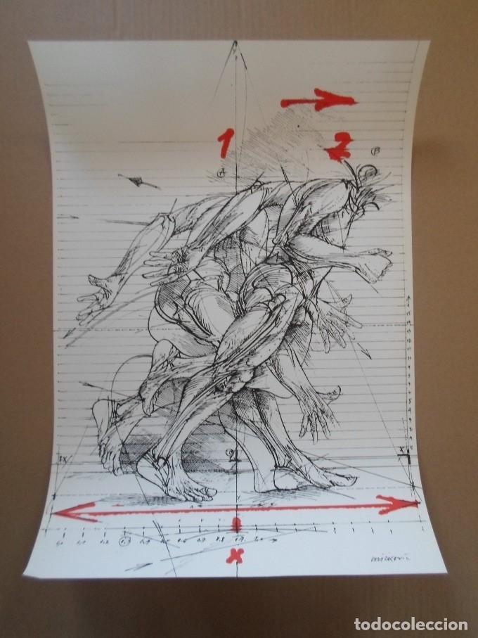 VLADIMIR VELICKOVIC (BELGADO 1935) SERIGRAFÍA COLORES DE 58X41CMS DE 1980 ESBOZO DE MOVIMIENTO VLAD (Arte - Cromolitografía)