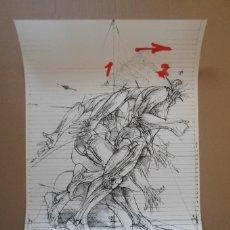 Art: VLADIMIR VELICKOVIC (BELGADO 1935) SERIGRAFÍA COLORES DE 58X41CMS DE 1980 ESBOZO DE MOVIMIENTO VLAD. Lote 257771230