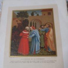 Arte: ANTIGUA CROMOLITOGRAFIA DE 1881, INSTITUCIÓN A LA CONFESION. Lote 262509695