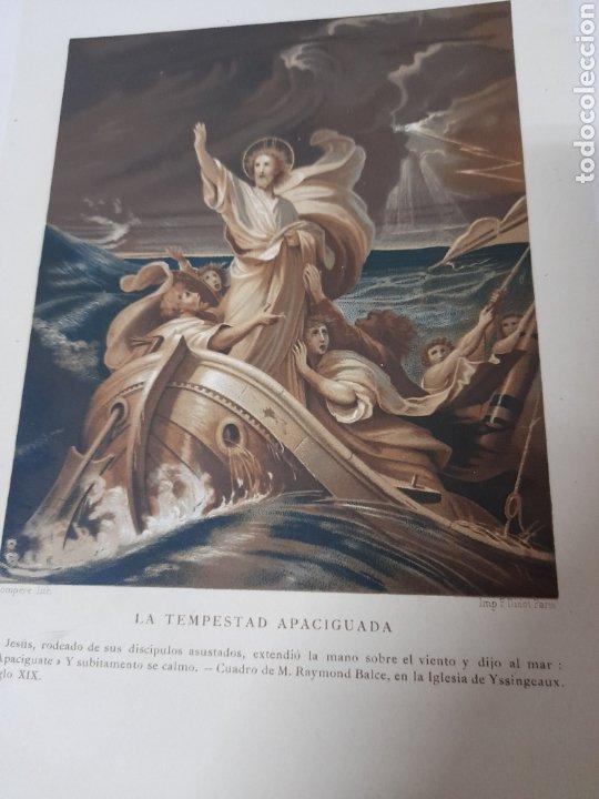 Arte: Antigua cromolitografia de 1881,La Tempestad apaciguada - Foto 2 - 262510395