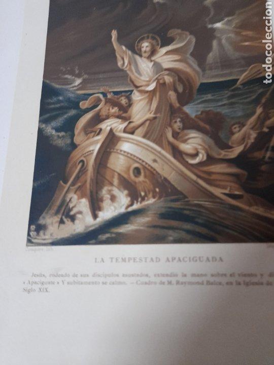 Arte: Antigua cromolitografia de 1881,La Tempestad apaciguada - Foto 4 - 262510395