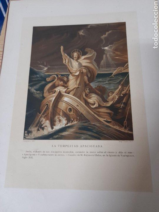 ANTIGUA CROMOLITOGRAFIA DE 1881,LA TEMPESTAD APACIGUADA (Arte - Cromolitografía)