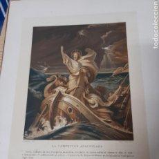 Arte: ANTIGUA CROMOLITOGRAFIA DE 1881,LA TEMPESTAD APACIGUADA. Lote 262510395