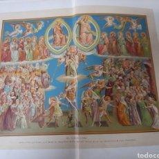 Arte: ANTIGUA CROMOLITOGRAFIA DE 1881, EL JUICIO FINAL. Lote 262511850