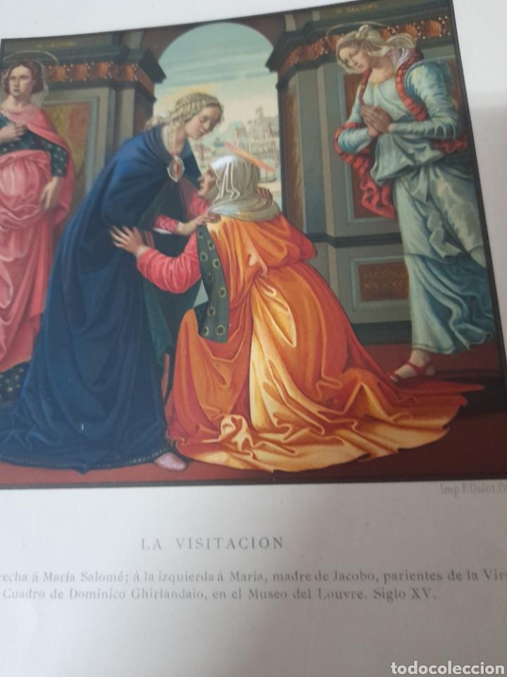 Arte: La visitación, Antigua cromolitografia de 1881 - Foto 2 - 262513375