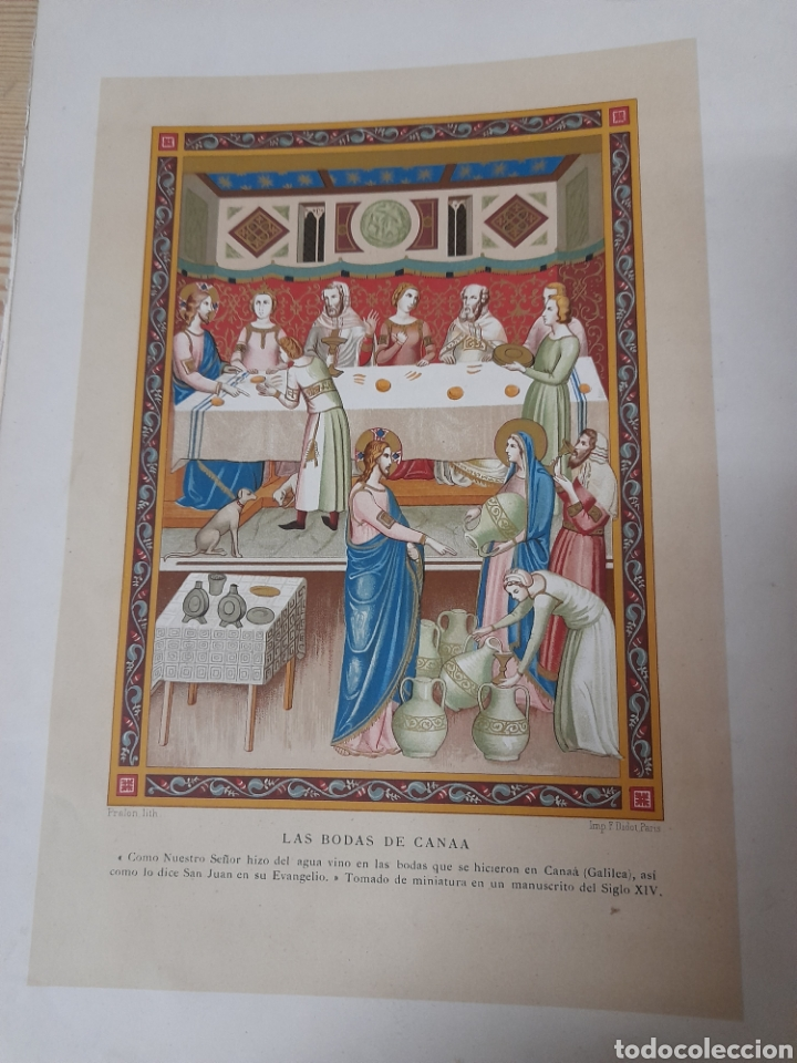 LAS BODAS DE CANAA ,ANTIGUA CROMOLITOGRAFIA DE 1881 (Arte - Cromolitografía)
