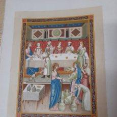 Arte: LAS BODAS DE CANAA ,ANTIGUA CROMOLITOGRAFIA DE 1881. Lote 262513640