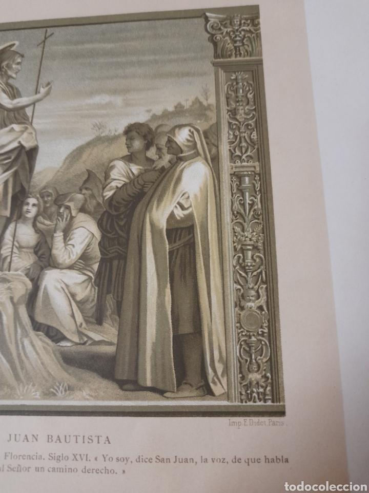 Arte: Predicación de San Juan Bautista, Antigua cromolitografia de 1881 - Foto 4 - 262513945
