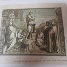 Arte: PREDICACIÓN DE SAN JUAN BAUTISTA, ANTIGUA CROMOLITOGRAFIA DE 1881. Lote 262513945