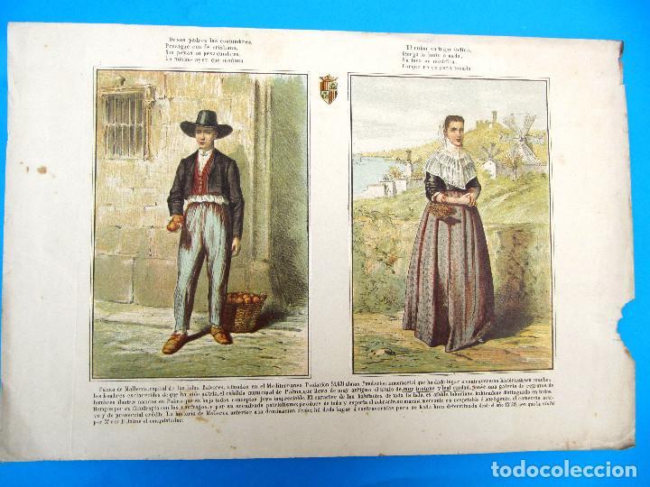 CARTEL HOMBRE Y MUJER DE PALMA DE MALLORCA O ISLAS BALEARES, S/F. (Arte - Cromolitografía)