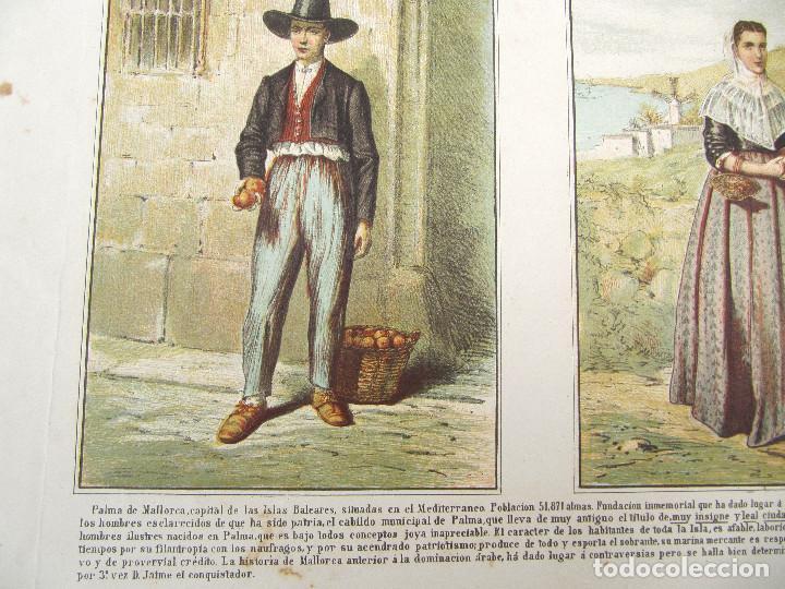 Arte: CARTEL HOMBRE Y MUJER DE PALMA DE MALLORCA O ISLAS BALEARES, S/F. - Foto 2 - 262536635