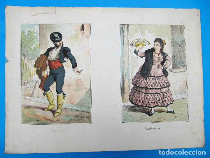 CARTEL ANDALUZ, ANDALUZA, ANDALUCIA. S/F. (Arte - Cromolitografía)