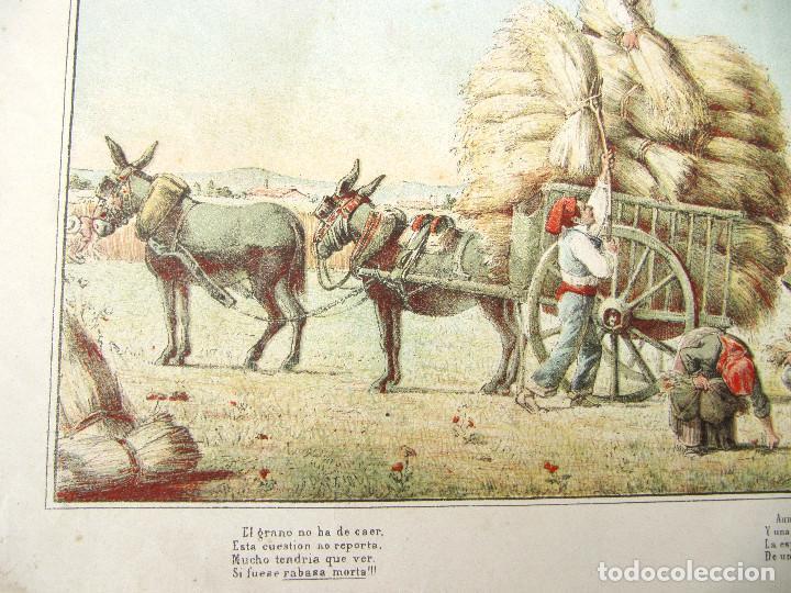 Arte: CARTEL RABASSAIRES RECOGIENDO LA COSECHA. CATALUNYA, CATALUÑA. S/F. - Foto 2 - 262541415