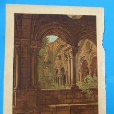 Arte: CARTEL LÁMINA CLAUSTRO BIZANTINO DE TARRAGONA. MIR TARRADAS COMAS Y CIA EDITORES, S/F.. Lote 262551845