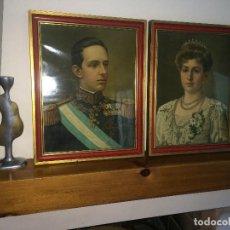 Art: ALFONSO XIII Y VICTORIA EUGENIA DE BATTENBERG - REYES DE ESPAÑA - CUADROS PRIMERA MITAD SIGLO XX. Lote 262999360