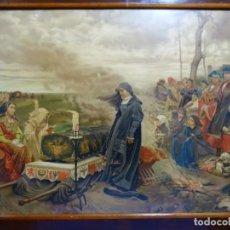 Arte: LÁMINA CROMOLITOGRAFIA EN MARCO DE ÉPOCA EN MADERA DEL SIGLO XIX.. Lote 263802000