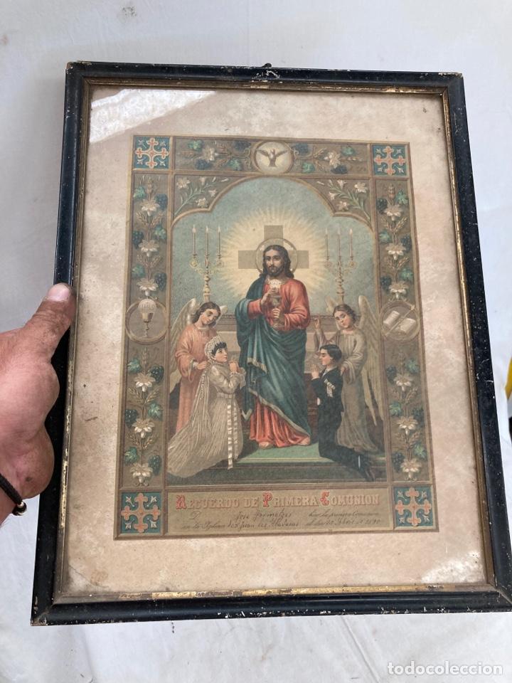 CROMOLITOGRAFIA DE 1890,IGLESIA DE SAN JUAN DE ABADESAS! (Arte - Cromolitografía)