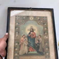 Art: CROMOLITOGRAFIA DE 1890,IGLESIA DE SAN JUAN DE ABADESAS!. Lote 266115803