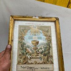 Art: CROMOLITOGRAFIA DE 1892,IGLESIA DE LA CONSAGRACION!. Lote 266116023