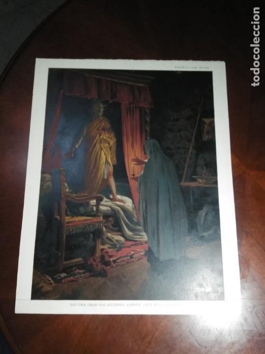 Arte: 3 Cromolitografias antiguas de Don Quijote de la Mancha - Foto 2 - 253746380