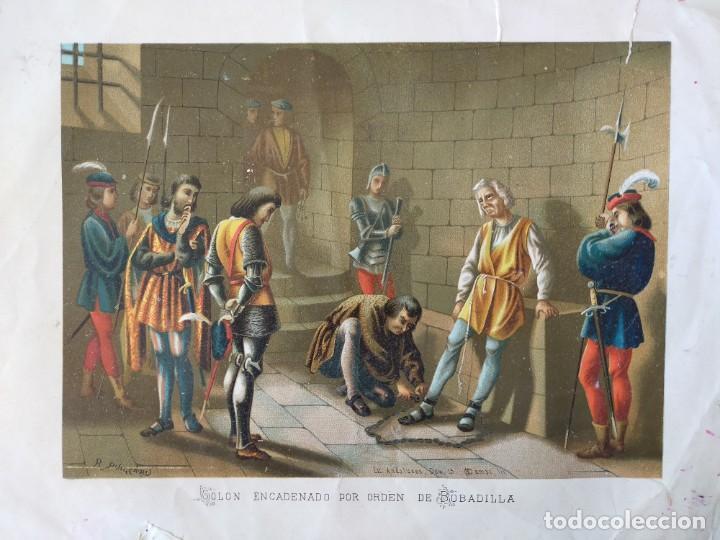 Arte: CROMOLITOGRAFIAS - VIDA Y VIAJES DE CRISTOBAL COLON - SIGLO XIX - Foto 5 - 267627599