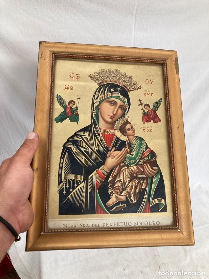 ANTIGUA CROMOLITOGRAFIA RELIGIOSA! (Arte - Cromolitografía)