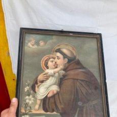 Arte: ANTIGUA CROMOLITOGRAFIA RELIGIOSA!. Lote 273607578