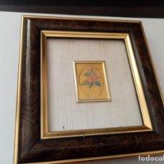 Arte: PEQUEÑO CUADRO ITALIANO CHROMOLITHOGRAPH ON 23 KT GOLD LEAF CON CERTIFICATE OF GUARANTEE. Lote 277825003