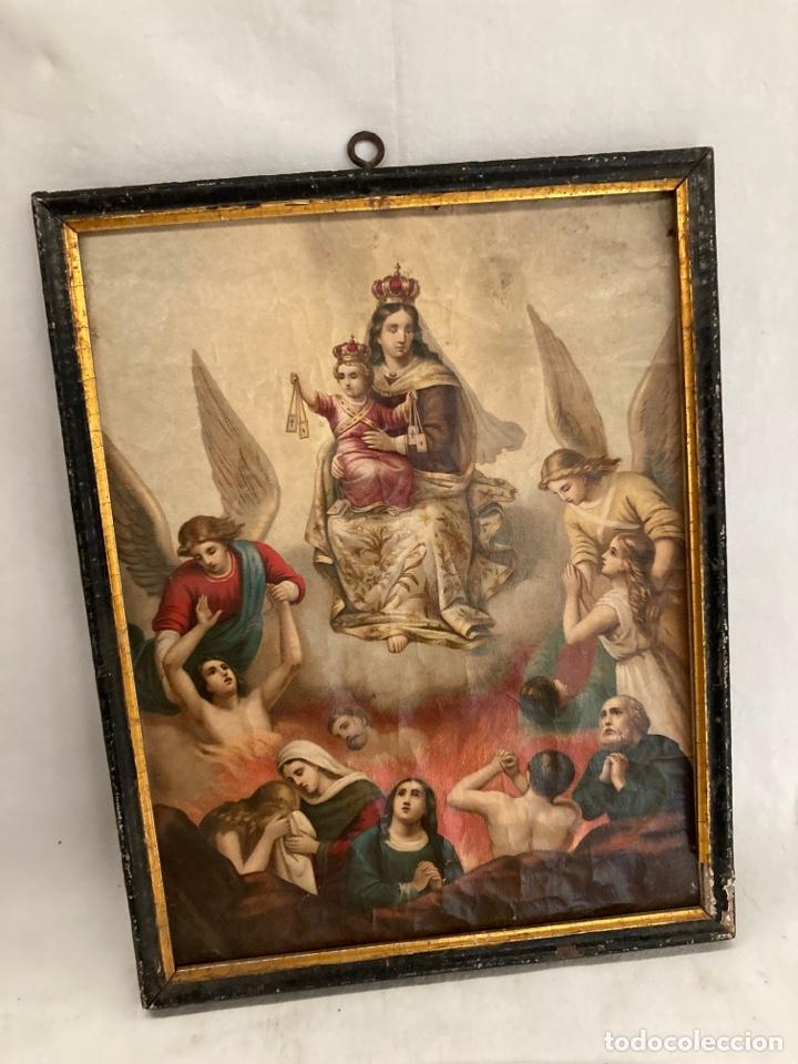 ANTIGUO CROMOLITOGRAFIA RELIGIOSA! (Arte - Cromolitografía)